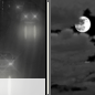 Saturday Night: Slight Chance Light Rain then Mostly Cloudy
