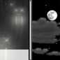 Saturday Night: Slight Chance Light Rain then Partly Cloudy