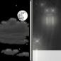 Friday Night: Partly Cloudy then Slight Chance Light Rain