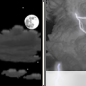 Tonight: A 20 percent chance of showers and thunderstorms after 4am.  Partly cloudy, with a low around 47. North northeast wind 9 to 14 mph, with gusts as high as 20 mph.