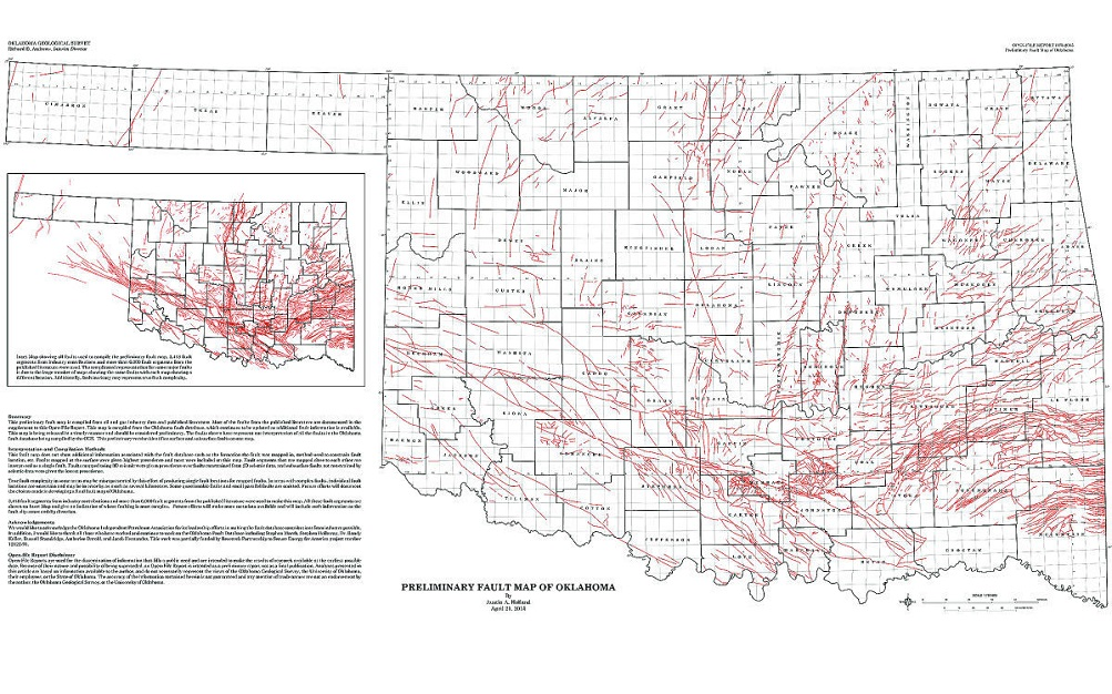Interactive map of earthquakes in Oklahoma | American Geosciences ...